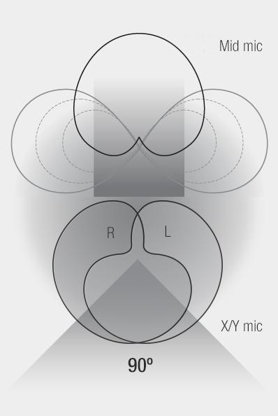 Illustration - Mid-Side + X/Y Recording