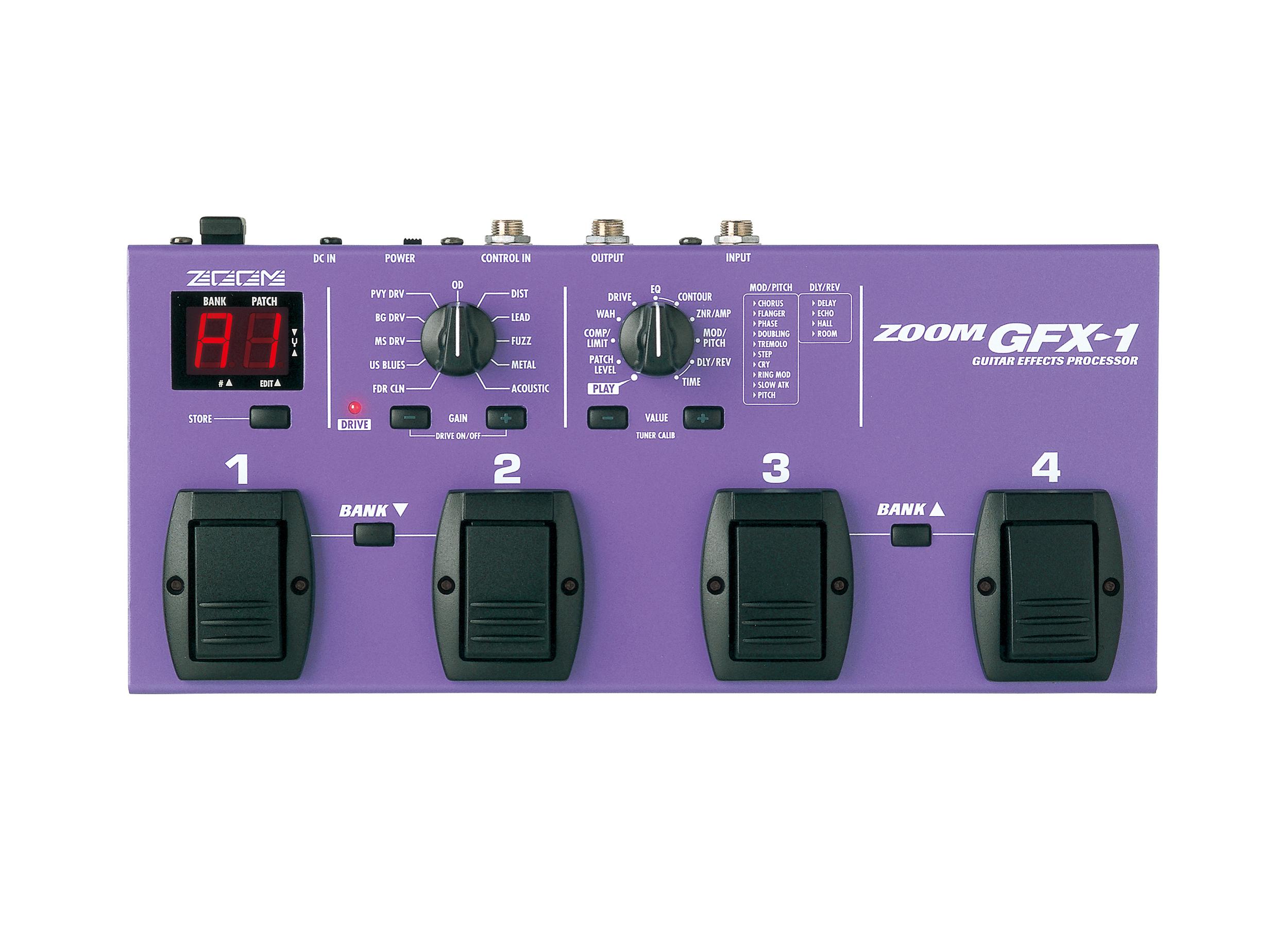 gfx 1 guitar effects processor zoom. Black Bedroom Furniture Sets. Home Design Ideas