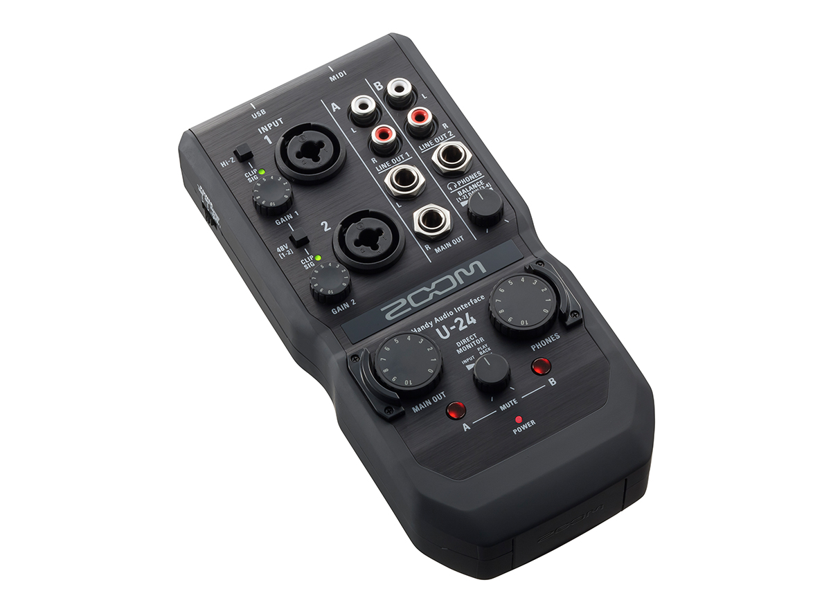 U-24 Handy Audio Interface | Zoom