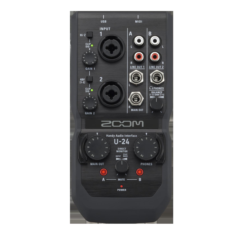 U-24 Handy Audio Interface | Zoom