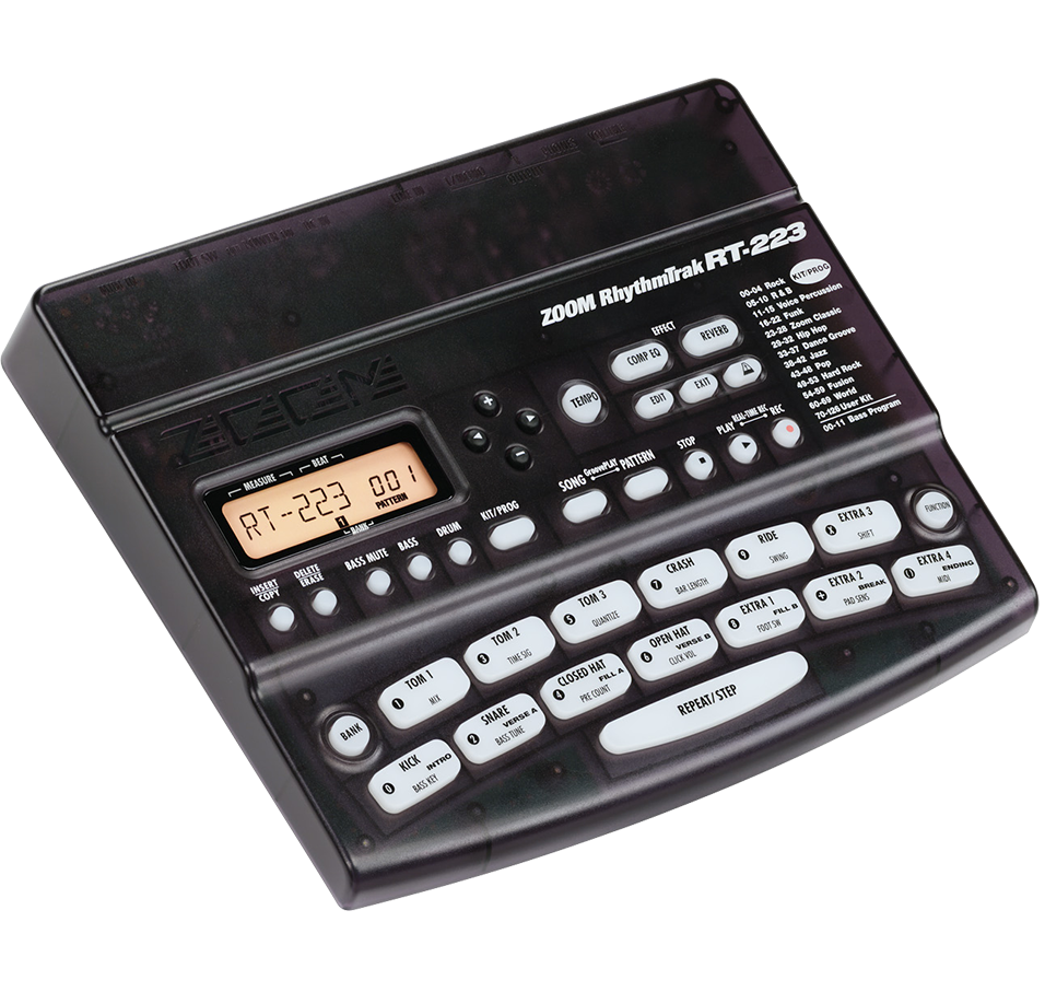 RT-223 RhythmTrak Drum Machine - slant left