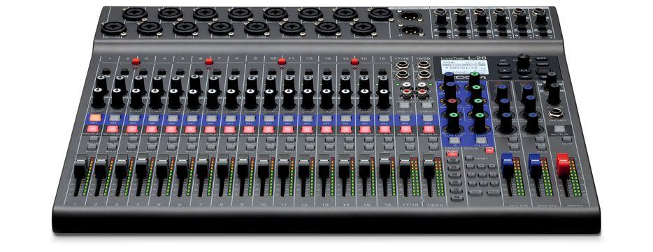 ה-LIVETRAK L-20/12 - מיקסרים דיגיטליים מתקדמים לאולפן והופעות