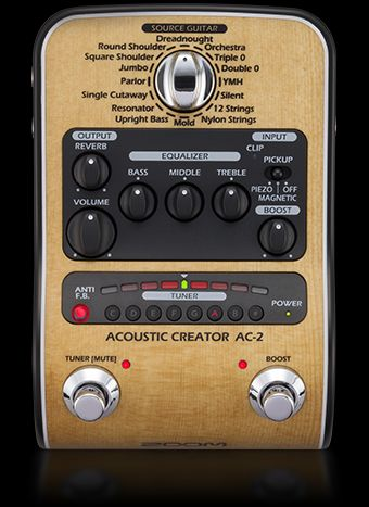 ZOOM Acoustic Creator AC-3 Preamp for Acoustic Guitar from Japan New in Box
