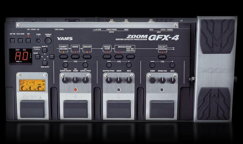 gfx 4 guitar effects processor zoom. Black Bedroom Furniture Sets. Home Design Ideas