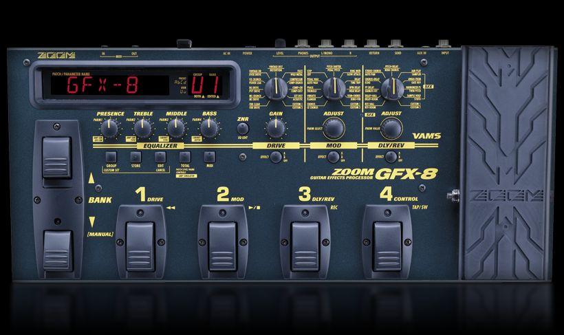 gfx 8 guitar effects processor zoom. Black Bedroom Furniture Sets. Home Design Ideas