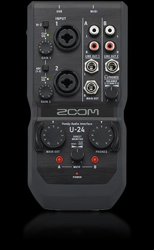 U-24 Handy Audio Interface   Zoom