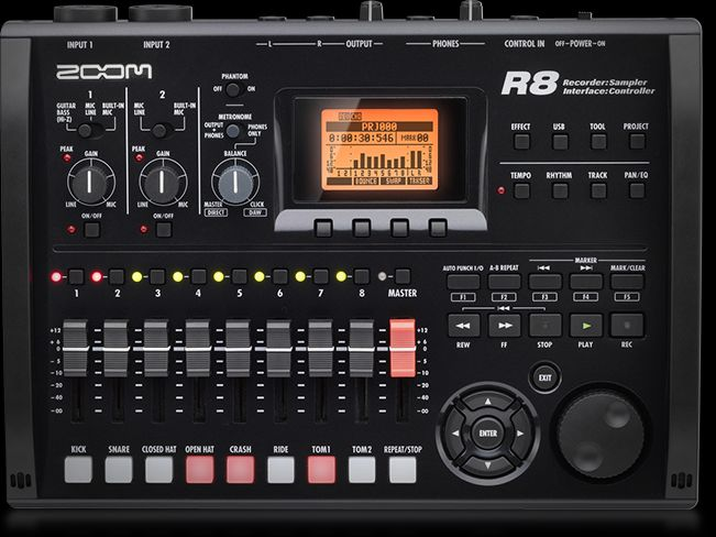 Zoom R8 Recorder : Interface : Controller : Sampler