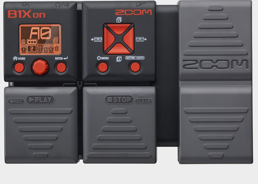 Zoom B1Xon Bass Effects Pedal with Expression Pedal - Top View