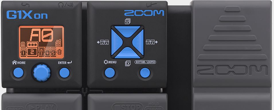 Zoom G1Xon Guitar Effects Pedal with Expression Pedal - top half