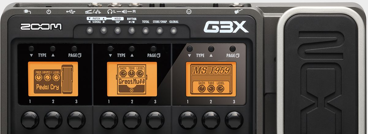 Zoom G3X Guitar Effects & Amp Simulator with Expression Pedal - Top Half