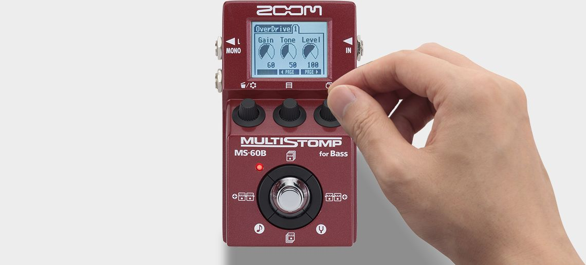Zoom MS-60B MultiStomp Bass Pedal - Hand turning knob