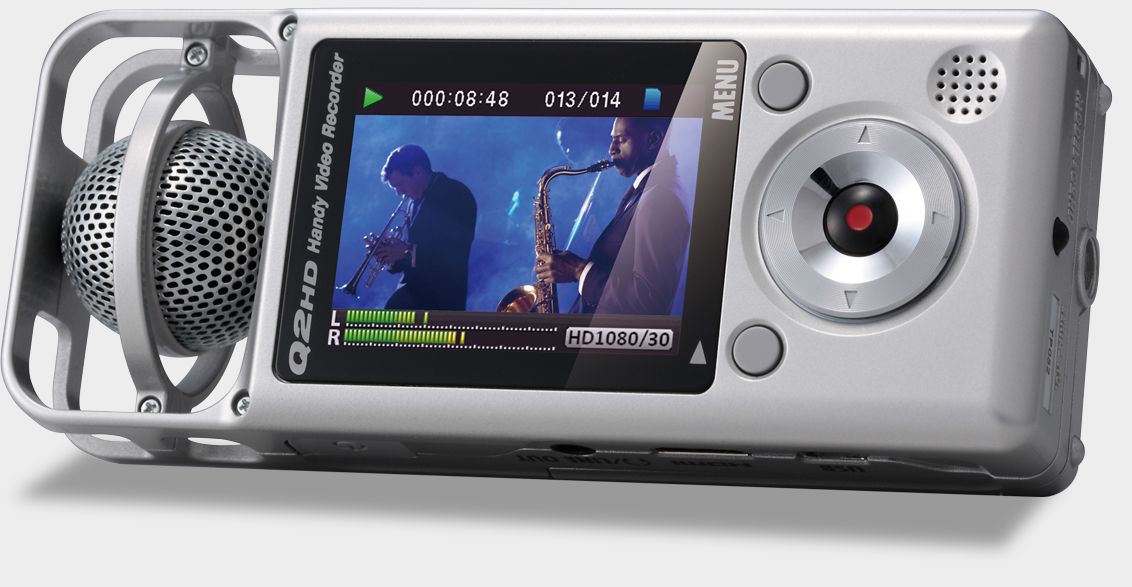Zoom Q2HD Handy Video Recorder - display