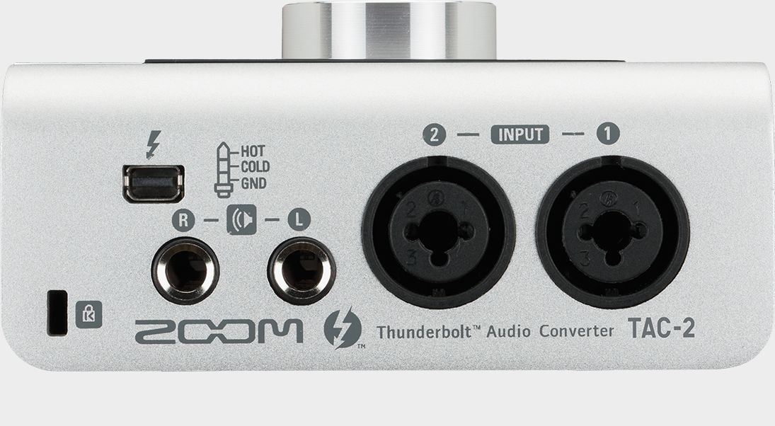 Zoom TAC-2 Thunderbolt Audio Converter - rear view