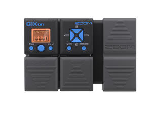 Zoom G1Xon Guitar Multi-Effects Processor with Expression Pedal - Top View