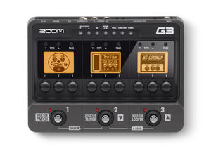 Zoom G3 Guitar Effects & Amp Simulator Pedal - Top View