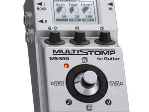 Zoom MS-50G MultiStomp Guitar Pedal - Slant Left
