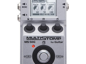 Zoom MS-50G MultiStomp Guitar Pedal - Top View