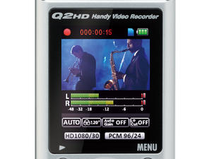 Zoom Q2HD Handy Video Recorder - rear view