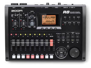 Zoom R8 Recorder : Interface : Controller : Sampler - Top View