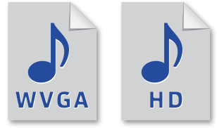 File Icons - WVGA, HD